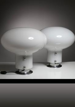 "Compasso - Pair of ""Leuké"" Table Lamps by Celli Tognon for Stilnovo"