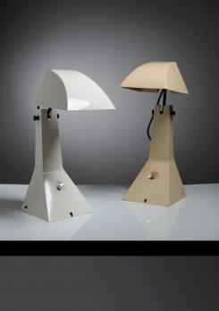"Compasso - Pair of ""E63"" Table Lamps by Umberto Riva for Bieffeplast"