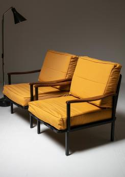 Compasso - Rare Pair of Lounge Chairs Model P24 by Osvaldo Borsani for Tecno