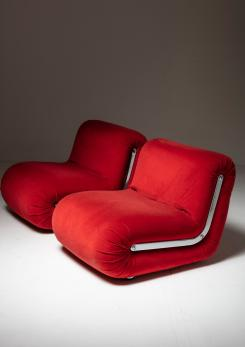 "Compasso - Pair of ""Boomerang"" Easy Chairs by Rodolfo Bonetto for Flexform"