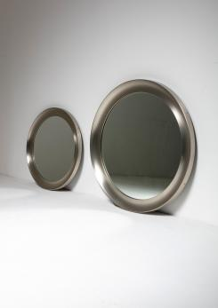 "Compasso - Pair of ""Narcisso"" Wall Mirrors by Sergio Mazza for Artemide"
