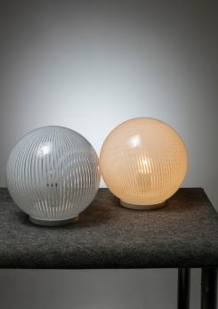 "Compasso - Pair of ""Tessuto"" Table Lamps by Venini"