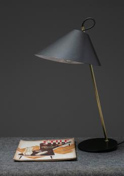 "Compasso - Pair of ""Base Ghisa"" Table Lamps by Caccia Dominioni for Azucena"
