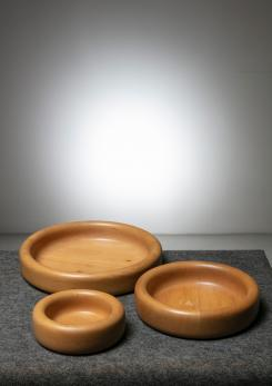Compasso - Set of Three Wood Centerpieces by Ingo Knuth