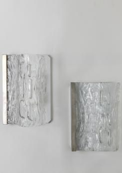 Compasso - Pair of Toni Zuccheri Wall Lights for Venini