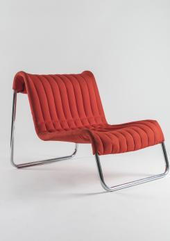 "Compasso - Pair of ""Duecavalli"" Lounge Chairs by De Pas, Lomazzi, D'Urbino for Driade"
