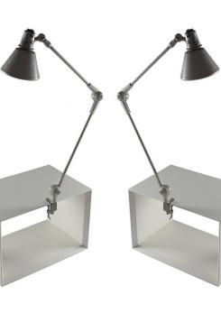 Compasso - Pair of Stilnovo Clamp Lamps
