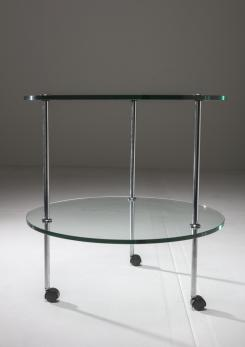 "Compasso - ""T6"" Glass Cart by Luigi Caccia Dominioni for Azucena"