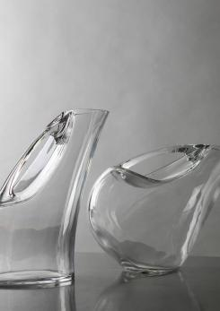 Compasso - Set of Two Crystal Pitchers by Angelo Mangiarotti