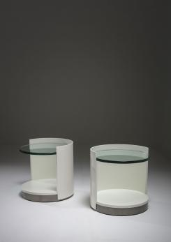 Compasso - Pair of Nightstands by Gianni Moscatelli for Formanova