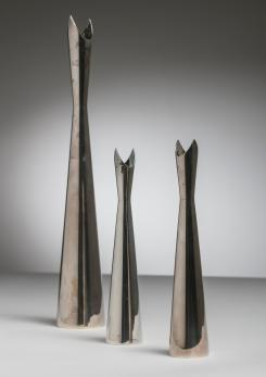 "Compasso - Set of Three ""Cardinale"" Vases by Lino Sabattini for Christofle"