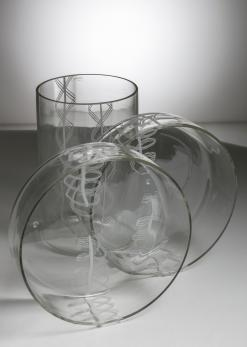 Compasso - Set of Three Vases by Barbini