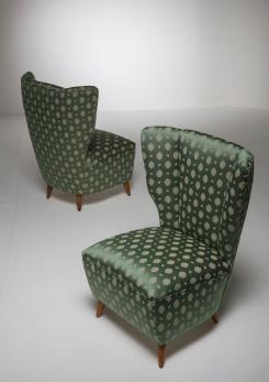 Compasso - Pair of Italian 50s Slipper Chairs