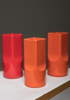 Compasso - Set of Three Ceramic Vases by Studio O.P.I. for Gabbianelli.