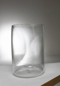 Compasso - Large Crystal Vase by Barbini