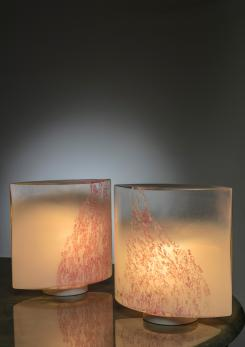 "Compasso - Pair of ""Idra"" Table Lamps by Toso for Leucos"