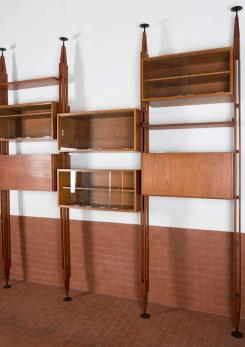 "Compasso - Impressive ""Lb7"" Bookshelf by Franco Albini for Poggi"