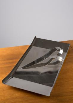 "Compasso - Arran Tray and ""Giglio"" Paper Knife by Enzo Mari for Danese"