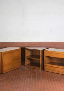 "Compasso - Set of Four ""4D"" storage system by Angelo Mangiarotti for Molteni"