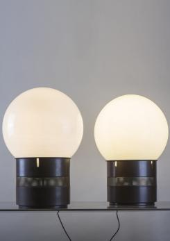 "Compasso - Pair of ""Mezzo Oracolo"" Table Lamps by Gae Aulenti for Artemide"