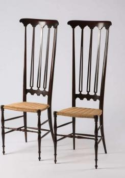 Compasso - Pair of Italian Chiavari High Back Chairs