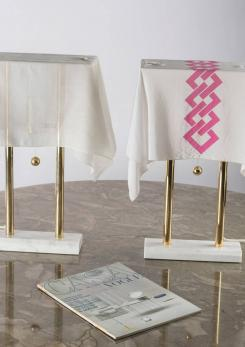 "Compasso - Set of Two ""Nefer"" Table Lamps by Kazuhide Takahama for Sirrah"