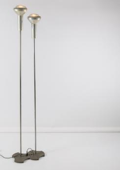 Compasso - Pair of Floor Lamps by Gino Sarfatti for Arteluce