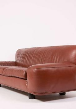 "Compasso - ""Altopiano"" Four-Seat Sofa by Franco Poli for Bernini"