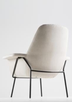 Compasso - Lucania Armchair with Ottoman by Giancarlo De Carlo for Arflex