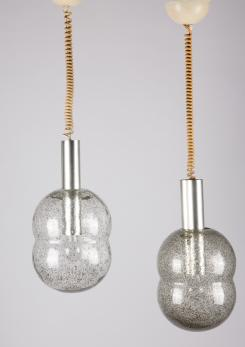 "Compasso - Pair of ""Bilobo"" Pendant Lamps by Tobia Scarpa for Flos"