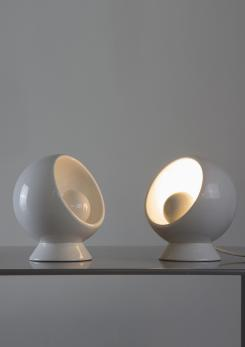 Compasso - Rare Set of Two Ceramic Table Lamps
