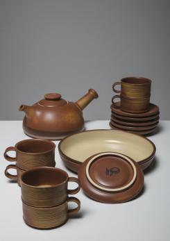 Compasso - Ceramic Tea Set by Franco Bucci for Laboratorio Pesaro
