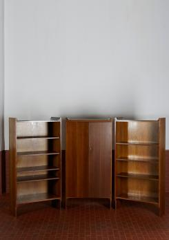 "Compasso - Set of Three ""Mariano"" Bookshelves by Castiglioni For Gavina"