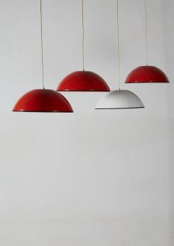 "Compasso - Set of Four ""Relemme"" Pendant Lamps by Castiglioni for Flos"