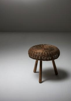 Compasso - Italian 50s Wicker Stool