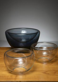 Compasso - Set of Three 70s Vistosi Glass Bowls