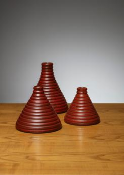 Compasso - Set of 3 Ceramic Vases by Il Punto