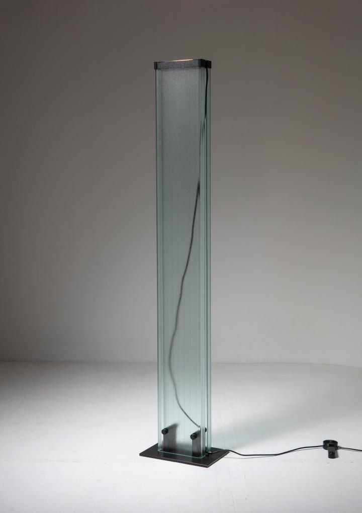 Compasso - U-Glass Floor Lamp by Stilnovo